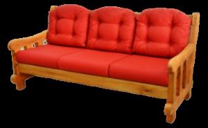 Sofá da marca Arte Velha com tapeçaria vermelha 1
